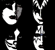 KISS solos Warholized by KirneH001