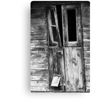 The cat flap Canvas Print