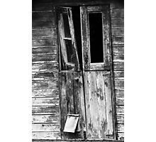 The cat flap Photographic Print