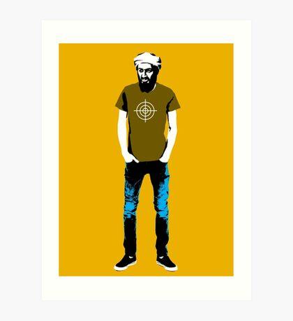 Hipster Bin Laden Art Print