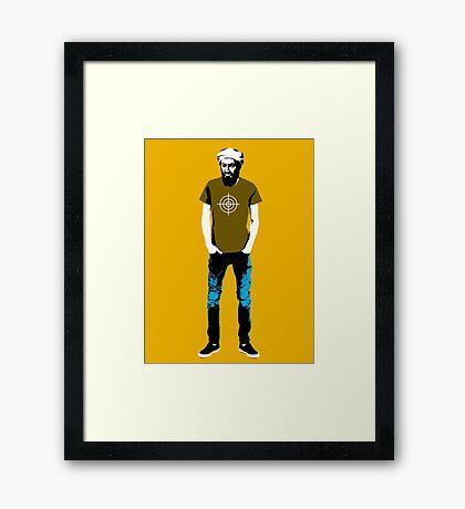 Hipster Bin Laden Framed Print