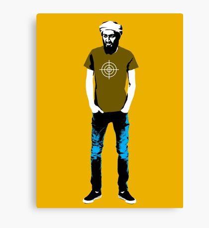 Hipster Bin Laden Canvas Print