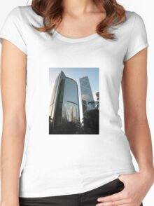 Skyscrapers Galore Women's Fitted Scoop T-Shirt