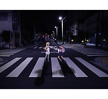 Monogatari – Mayoi and Shinobu crosswalk Photographic Print