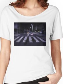 Monogatari – Mayoi and Shinobu crosswalk Women's Relaxed Fit T-Shirt