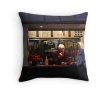 ...But let me tell YOU something........... Throw Pillow