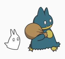 Munchlax and Chibi Totoro Sticker! by conniekidd