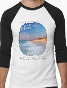 Dave Catley Landscape Photographer - Fine Art T-Shirt (Quinns Rocks) Men's Baseball ¾ T-Shirt