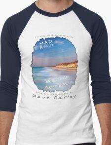Dave Catley Landscape Photographer - Fine Art T-Shirt (Quinns Rocks) Men's Baseball ¾ T-Shirt