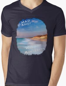 Dave Catley Landscape Photographer - Fine Art T-Shirt (Quinns Rocks) Mens V-Neck T-Shirt