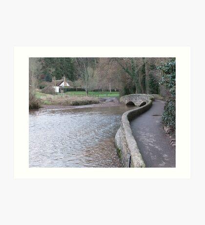 The Packhorse Bridge, Dunster Art Print