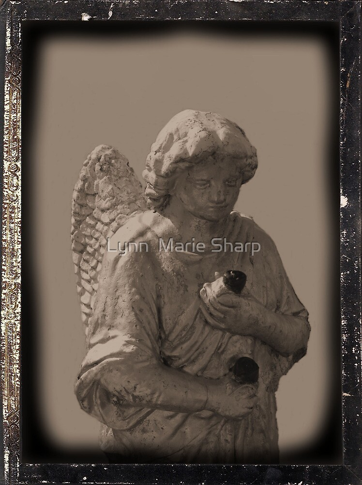 Angel with Roses by Marie Sharp