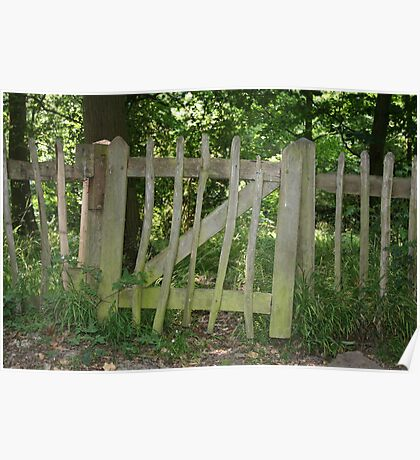 Crooked Fence Poster