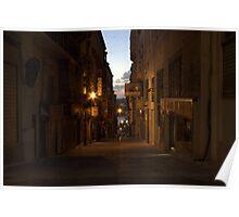 Old Street in Valletta Poster