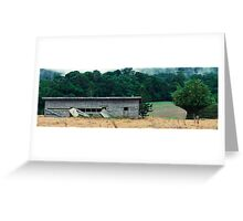 Abandoned building in the country Greeting Card