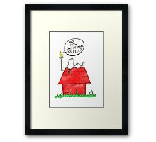 How does it make you feel Framed Print