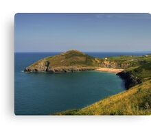 Mwnt Beach and Headland Canvas Print