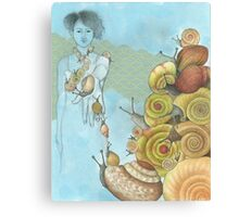 snails ascending Canvas Print