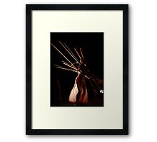 Dancers create the dreams Framed Print