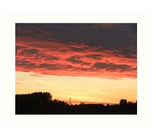 Sunset from Melbourne, East Yorkshire Art Print