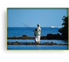 Wade Fishing  Canvas Print