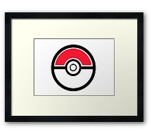 Pokemon Pokeball 1 Framed Print