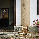 Entrance to the Church. by Valentina Walker