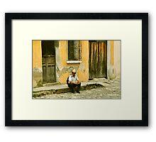 """Chapin (slang for """"Guatemalan man"""") Framed Print"""