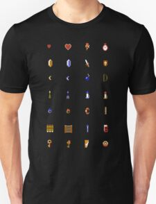 Zelda - The Items Without Text Unisex T-Shirt