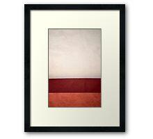Wall à la Rothko Framed Print