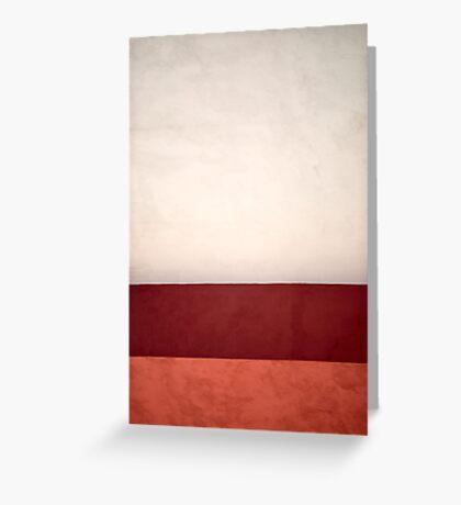 Wall à la Rothko Greeting Card