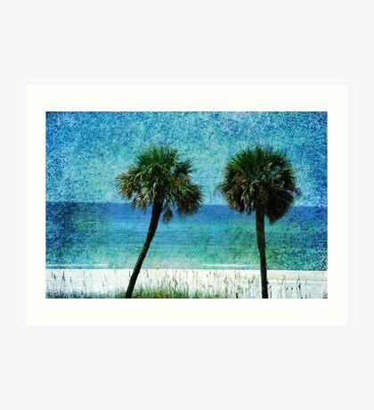 Palm trees at Gulf Coast  Art Print