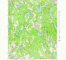 Massachusetts  USGS Historical Topo Map MA Paxton 351211 1965 25000 by wetdryvac