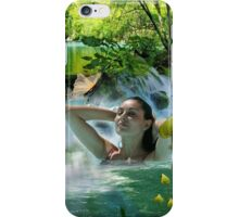 Love is like a jump in the water iPhone Case/Skin