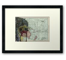 World Map Z Framed Print