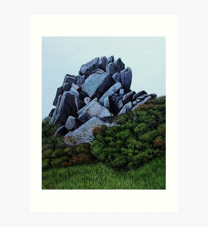Cairn, Oil on Board-mounted Paper, 25.5x20.5  Art Print