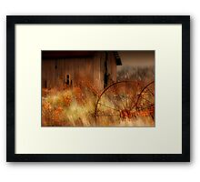 """"""" Silence is Rusty Conversation """" Framed Print"""