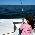 Striper fishing in Chesapeake Bay by Marcia Rubin