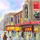 Picturehouse theatre nostalgic painting by gordonbruce