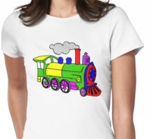 Steam train Womens Fitted T-Shirt