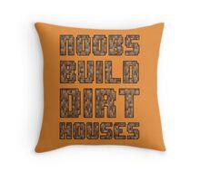 Mine craft noobs Throw Pillow