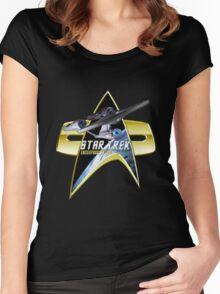 StarTrek Enterprise 1701 A Com badge Women's Fitted Scoop T-Shirt