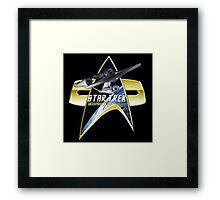 StarTrek Enterprise 1701 A Com badge Framed Print