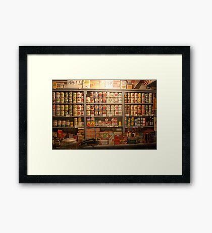 Canned Goods Framed Print