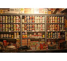 Canned Goods Photographic Print