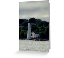 New London Harbor Light Greeting Card
