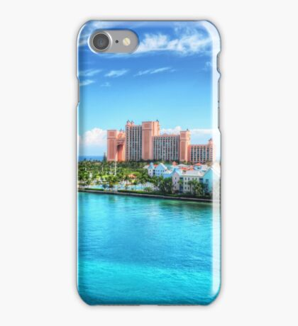 Atlantis Towers and Harbor Village in Paradise Island, Nassau, The Bahamas iPhone Case/Skin