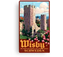 Visby Vintage Travel Poster Restored Canvas Print