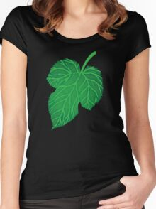 Green leaf  Women's Fitted Scoop T-Shirt