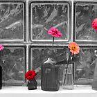 Flowers in Bottles- altered by Jill Vadala